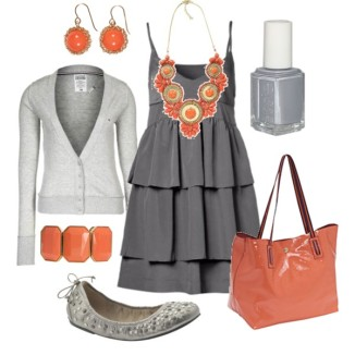 ----- (Google Image) Combine Grey with Orange  -----♥